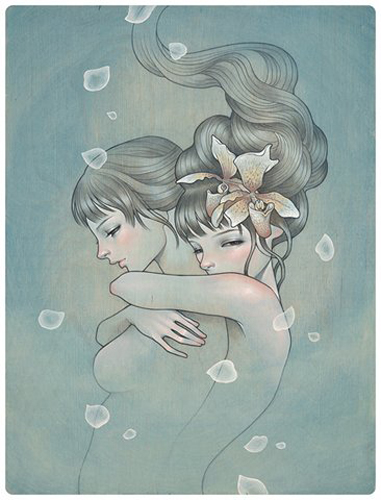 """Letting go (1 available) Ltd. Ed of 75 giclee, 14.5"""" x 11"""" (no longer available)"""