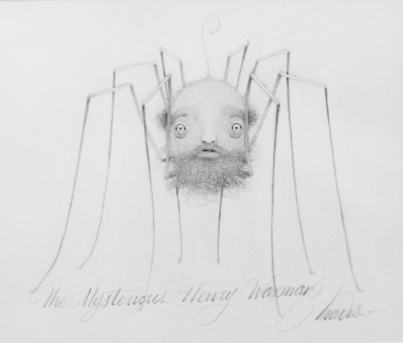 Mysterious Henry Waxman, Graphite on paper, 8 x 10 in