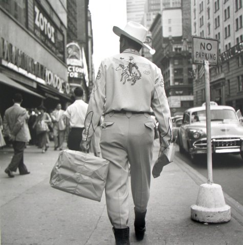 CITY COWBOY, 12 X 12 IN (IMAGE), 20 X 16 IN (PAPER) MODERN GELATIN SILVER PRINT, LTD. ED. OF 15 0114476