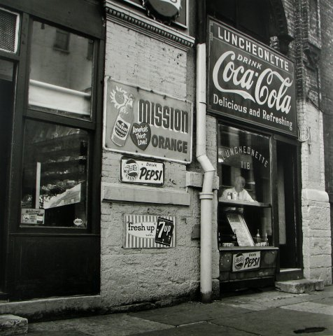 COCA COLA SIGNS 1959, 12 X 12 IN (IMAGE), 20 X 16 IN (PAPER) MODERN GELATIN SILVER PRINT, LTD. ED. OF 15 0117122