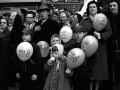 CROWD WITH BALLOONS, CHICAGO 1950S, 12 X 12 IN (IMAGE), 20 X 16 IN (PAPER) MODERN GELATIN SILVER PRINT, LTD. ED. OF 15 0117210