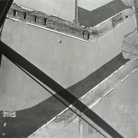 EXPOSED WALL SEPTEMBER 1956, 12 X 12 IN (IMAGE), 20 X 16 IN (PAPER) MODERN GELATIN SILVER PRINT, LTD. ED. OF 15 0119801