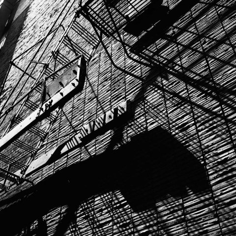 FIRE ESCAPES CHICAGO 1956, 12 X 12 IN (IMAGE), 20 X 16 IN (PAPER) MODERN GELATIN SILVER PRINT, LTD. ED. OF 15 0119238