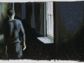 "HALLWAY, 2011 OIL PASTEL ON PAPER, 26.5"" X 40"""