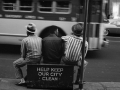 HELP KEEP OUR CITY CLEAN 1957, 10 X 15 IN (IMAGE), 20 X 16 IN (PAPER) MODERN GELATIN SILVER PRINT, LTD. ED. OF 15 0117677