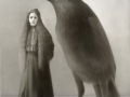 Miss Christina and the Crow ACRYLIC ON BOARD, 24 X 18 INCHES