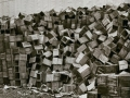 STACKS OF BOXES, 12 X 12 IN (IMAGE), 20 X 16 IN (PAPER) MODERN GELATIN SILVER PRINT, LTD. ED. OF 15 0114474