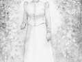 THE GHOST OF MISS TAPPENGER, DRAWING GRAPHITE ON PAPER, 24 X 18 INCHES