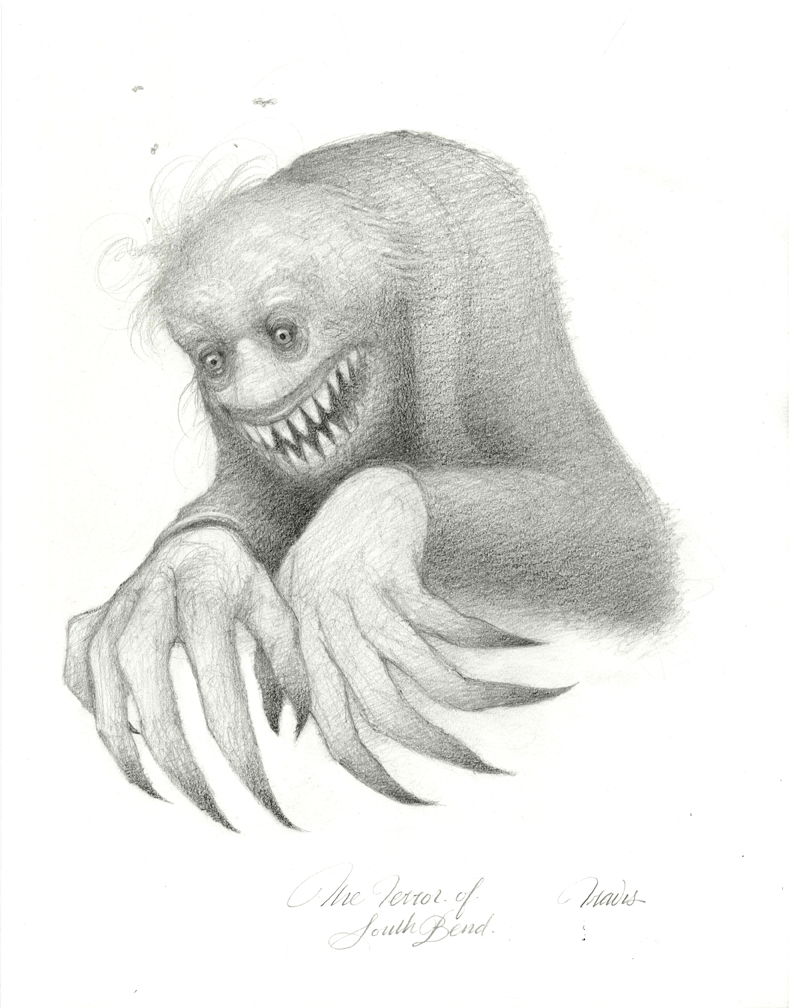 THE TERROR, DRAWING GRAPHITE ON PAPER, 14 X 11 INCHES