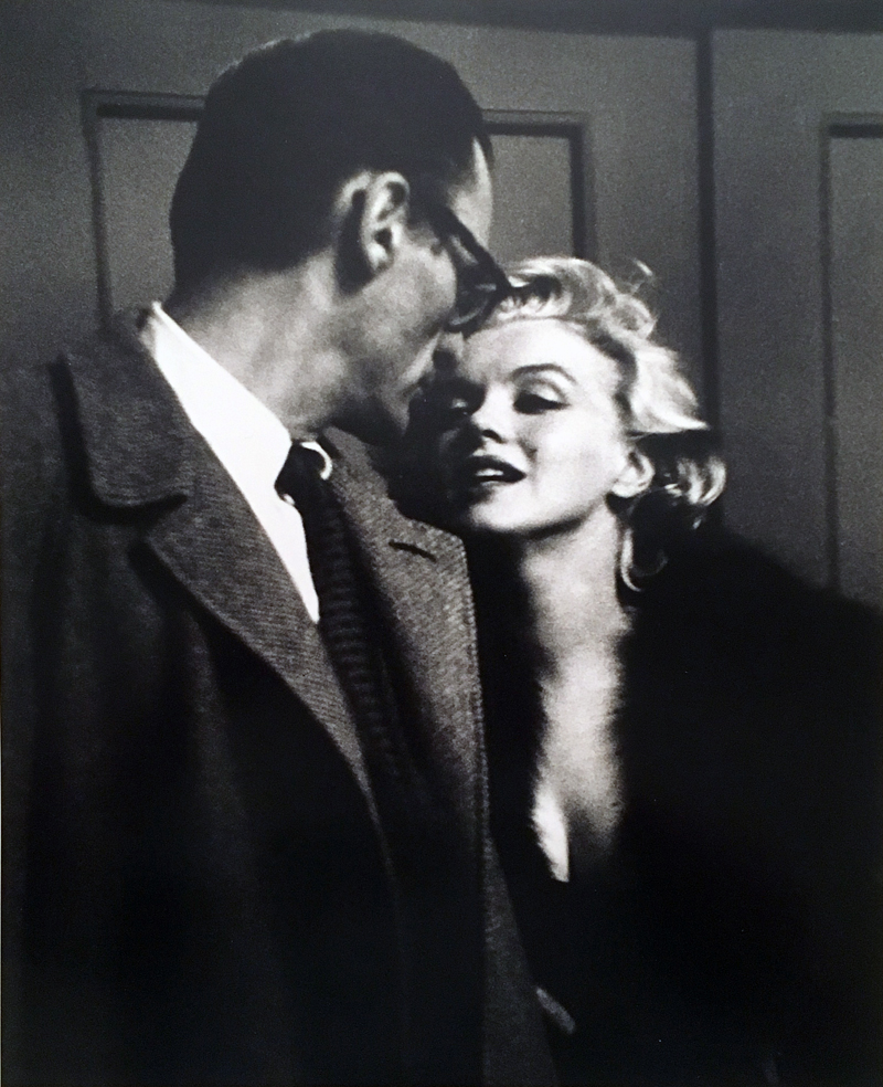 """Marilyn Monroe & Arthur Miller at private Showing of """"Some Like It Hot,"""" 1959"""
