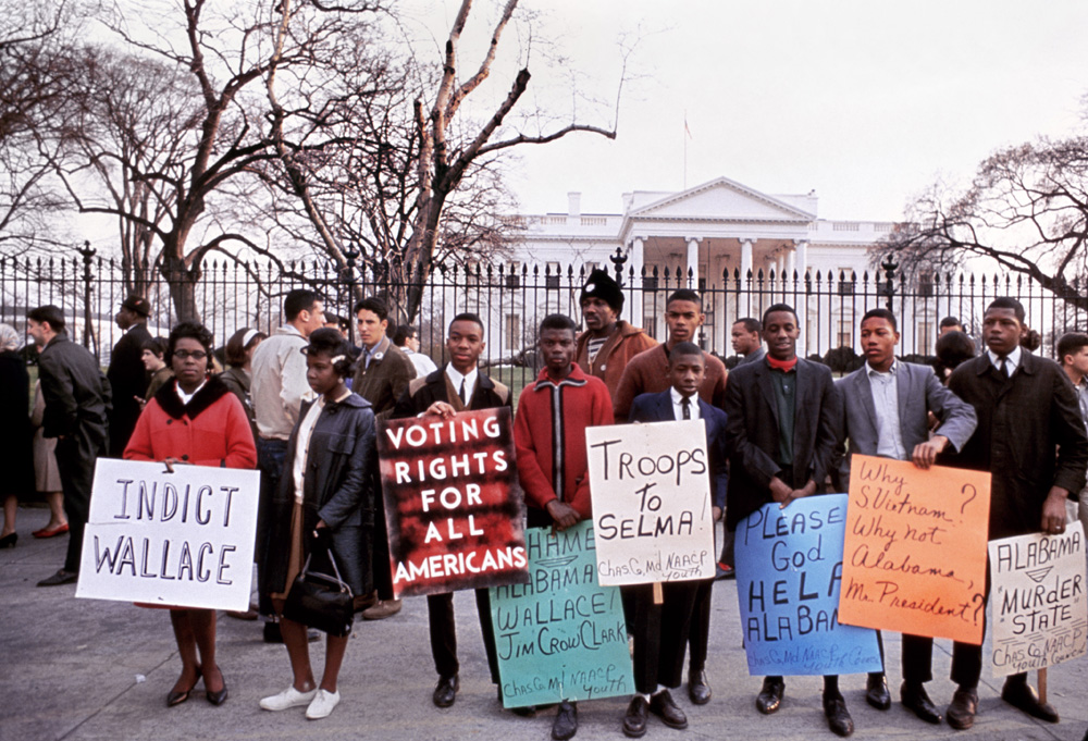Civil Rights Protest in front of White House, Washington, DC 1965