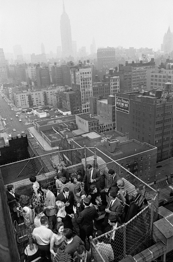 Rooftop living in NYC, 1966