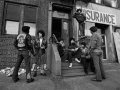 The Savage Nomads, a Bronx gang, talking to a NY Detective, New York, 1967