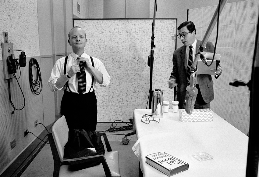 "Truman Capote recording ""In Cold Blood,"" RCA Studio, NYC, 1966"