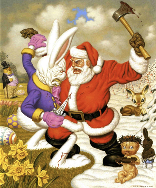 Todd Schorr__Clash of Holidays